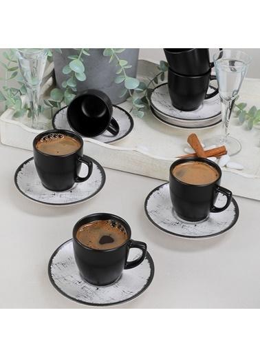 Keramika Line Kahve Takımı 12 Parça 6 Kişilik - 19301 Renkli